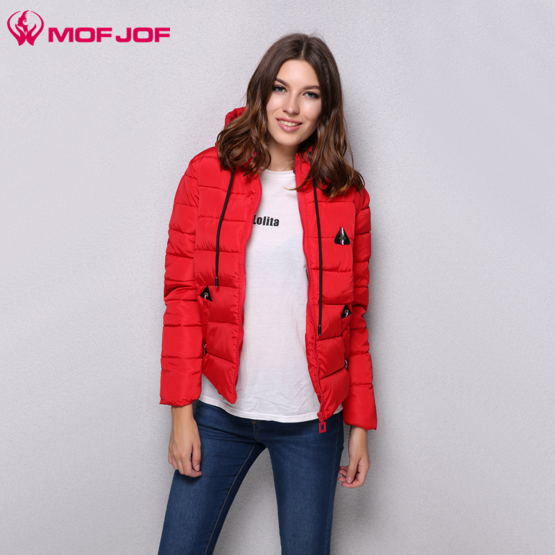 MofJof 2017 Winter New hot sale Hooded short Solid color women's Parkas mujer invierno Outwear Padded women Jacket Coat 612# new vogue abrigos mujer invierno nice coat women winter padded jacket cotton padded parka solid color hooded parkas tt1115