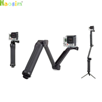 Camera 3 Way Monopod Arm Mount Adjustable Stand Bracket Handheld Grip Tripods For Go Pro Hero