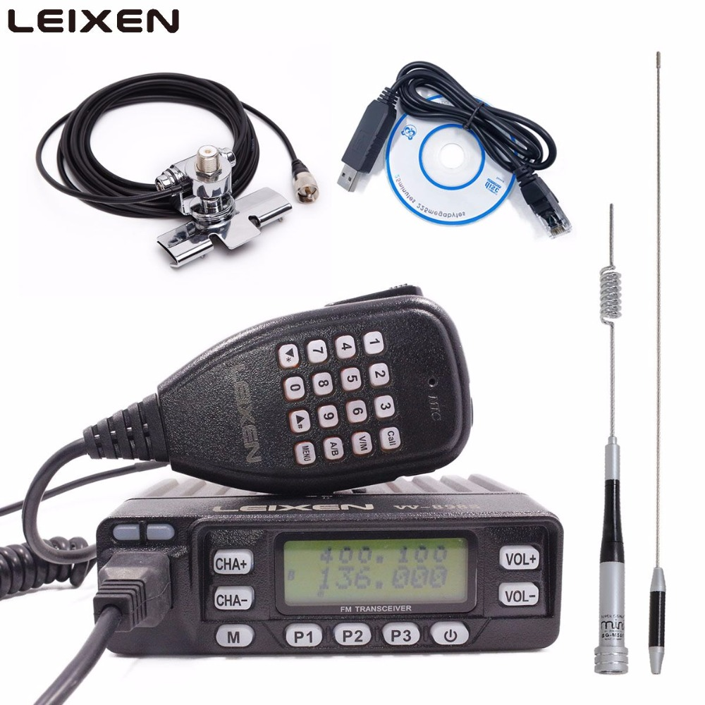 LEIXEN VV 898 VHF UHF Dual Band Car Radio Two Way Radio 5W/10W/25W Mobile Transceiver Amateur Ham Radio Leixen UV 25HX-in Walkie Talkie from Cellphones & Telecommunications    1