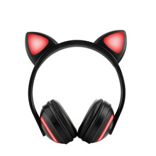 Bluetooth Stereo Cat Ear Headphones Color changing LED Wireless Unique Cute Cat-Style With Sports Harphones