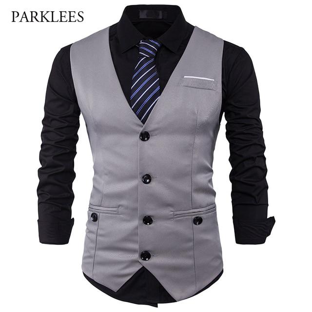 men suit vest classic v collar dress slim fit wedding. Black Bedroom Furniture Sets. Home Design Ideas