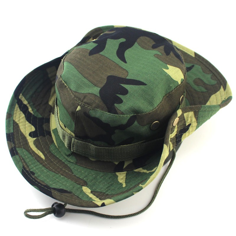 Mens Womens Bonnie Caps Military Army Camo Hat Outdoor Camouflage Climbing Hat