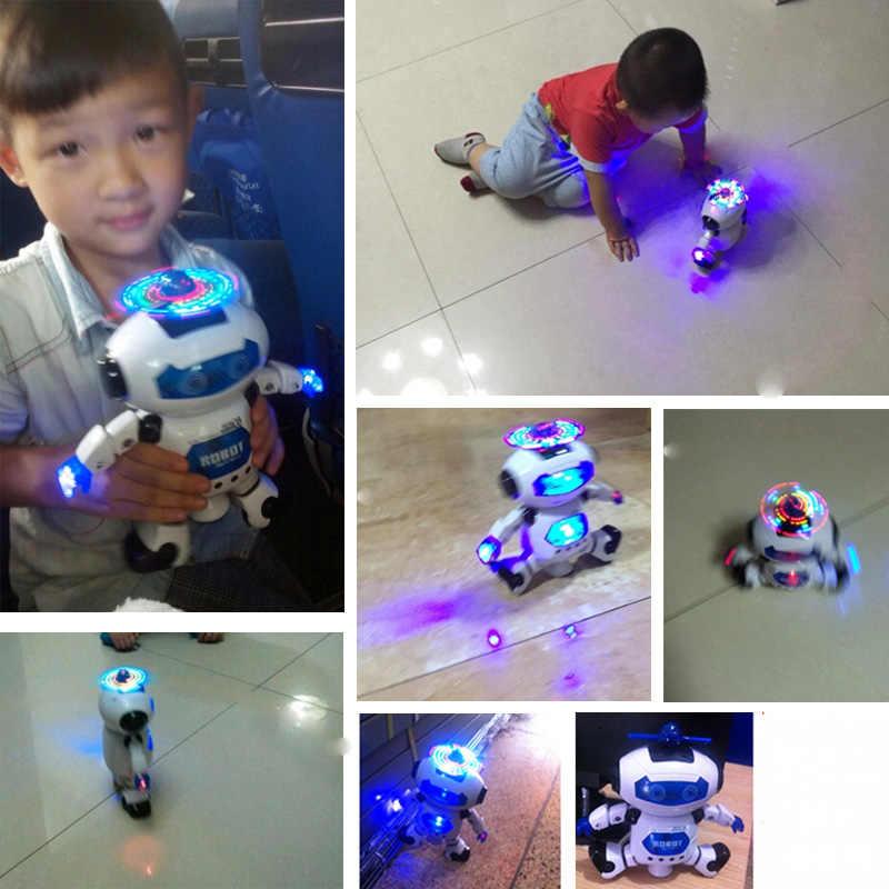 BOHS Espaço Dancer Humanóide Robô de Brinquedo Com Luz Crianças Brinquedos do animal de Estimação Eletrônicos Jouets Electronique para o Menino Criança