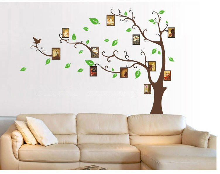 family tree photo frame home decoration wall art vinyl stickers