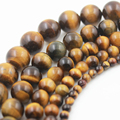 2017 fashion  Wholesale 20 Pcs/Lot Tiger eye For Bracelet Jewelry DIY 4 6 8 10 12mm TRSB1003