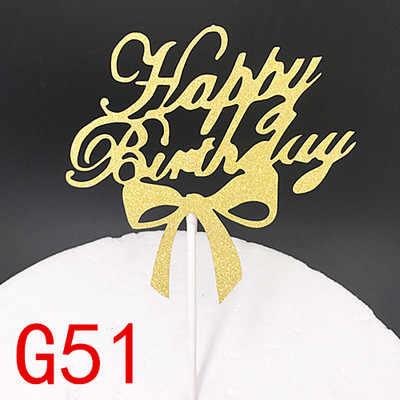 1 шт. Микки кекс торт Топпер С Днем Рождения флажки для торта двойные палочки семья День рождения Свадебные вечерние приборы для декорации выпечки