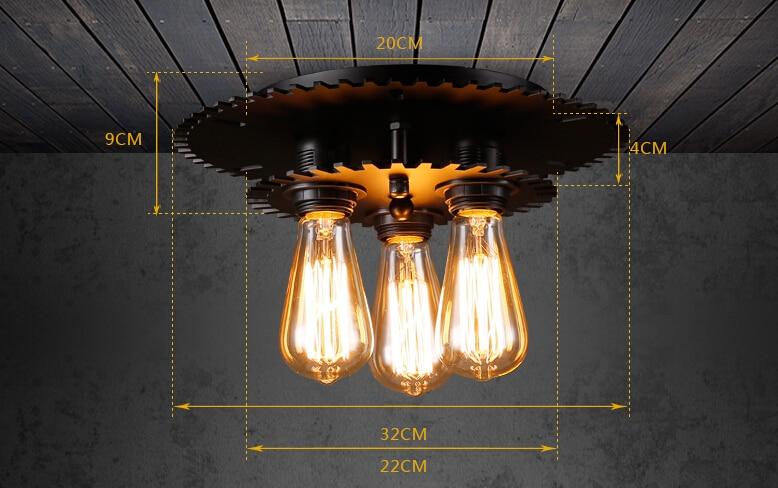 Plafoniere Camera Da Letto : 3 luci lampada da soffitto industriale ristorante plafoniere camera