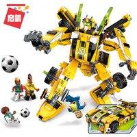 Assembling Building Block 3005 Century Football Gold Of Foot Child Alpinia Oxyphylla Deformation Robot Spelling Insert Toys