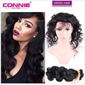7A Malaysian Body Wave With Closure 360 Lace Frontal Closure With Bundles Malaysian Virgin Hair With Closure Connie Human Hair
