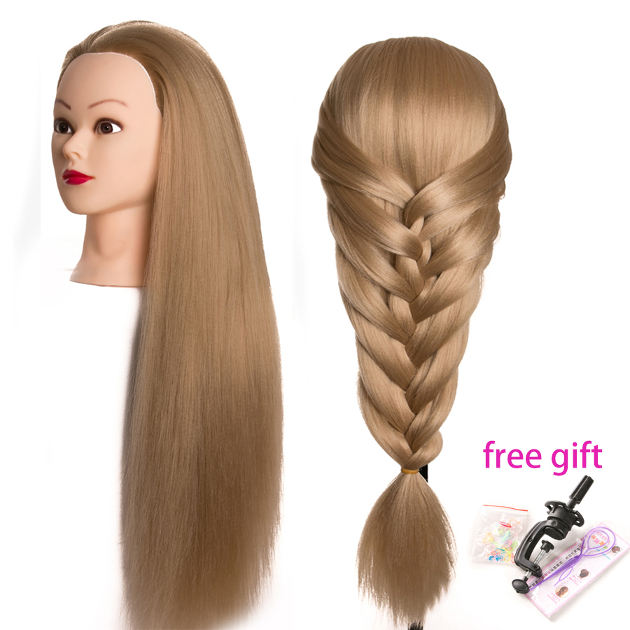 frisør dukker hoved Kvinde Mannequin Frisør Styling Træning Hoved Nice høj kvalitet Mannequin Head 65cm tykt hår