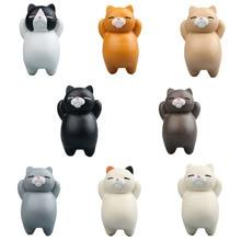 1 шт. милый кот мультфильм творческий 3D магнитные пряжки холодильник Наклейки действие украшения дома