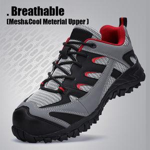 Image 5 - Mens Safety Shoes Leather With Steel Toe Cap Work boots Outdoor Light Weight Working Shoes