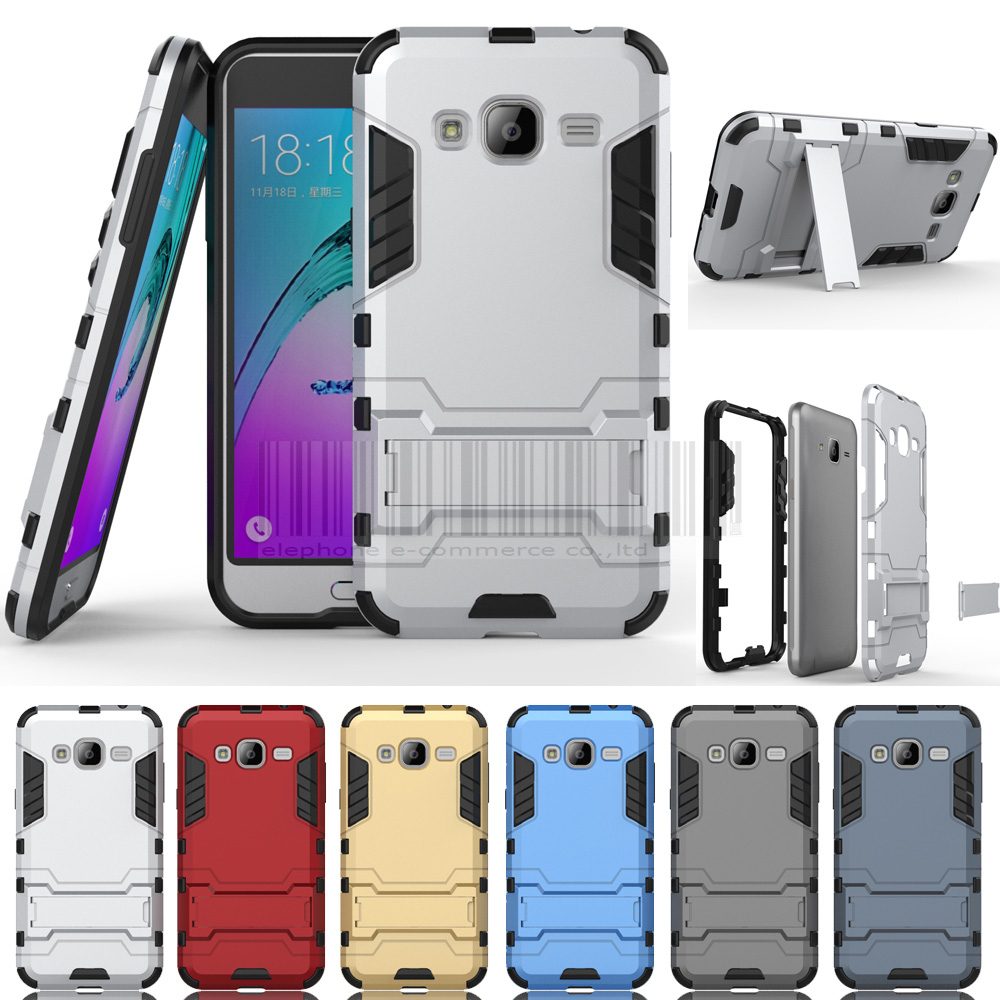 Tank Armor Slim Hybrid Shockproof With Stander Hard Case Protective Cover For AT&T Samsung Galaxy Express Prime