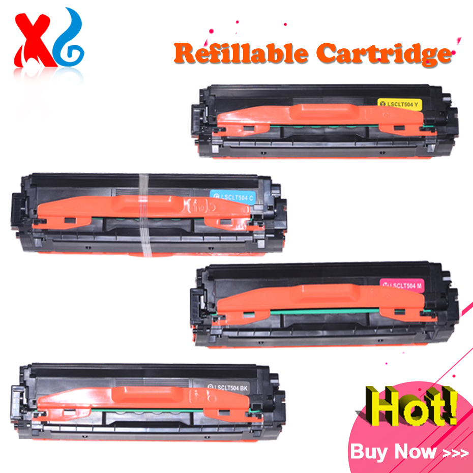 1X CLT-K504S CLT-C504S Toner Cartridge for Samsung CLP-415NW CLX-4195FW CLP 415NW Xpress C1810W C1860FW EXP Verison Printer Part powder for samsung mltd 1192 s xil for samsung d1192s els for samsung mlt d119 s els color toner cartridge powder free shipping