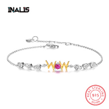 все цены на INALIS New Fashionable Charming Bracelet&Bangle for Women 925 Sterling Silver Link Chain Fine Jewelry Party Birthday Gift Girls онлайн