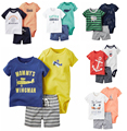 Free ship roupa infantil Baby Boys Girl Clothes 6-24 Months Summer Style Baby Casaco Infant Clothing Set 1Sets/lot Roupa