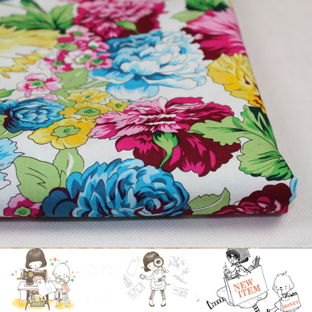 Aliexpress.com : Buy 2meters/Lot Beautiful Bright Flowers Printed ...