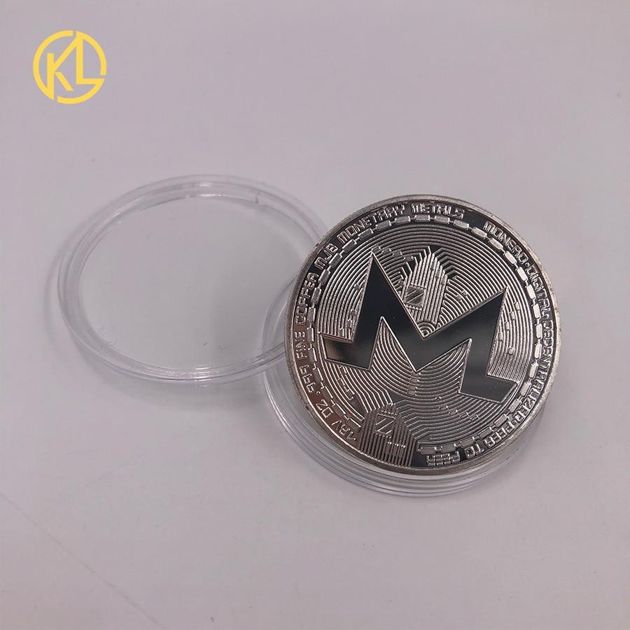 CO017 1 шт. не монеты иностранных валют Dash эфириум Litecoin пульсация Биткойн XMR Monero монета 8 видов памятных монет Прямая - Цвет: CO-014-2