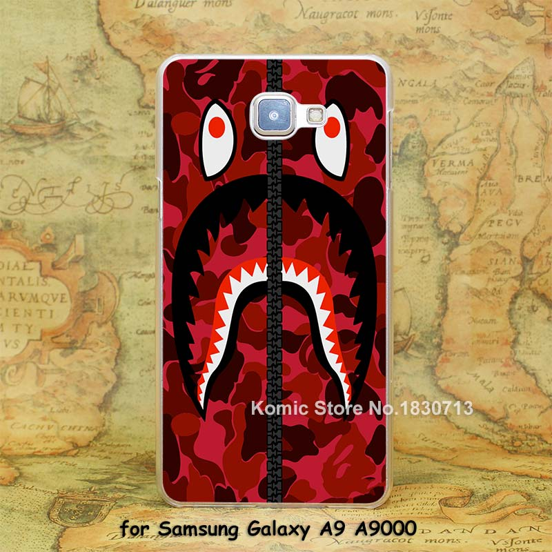 tumblr bape hoodie red Design hard transparent clear Skin Cover Case Samsung Galaxy a3 a5 a7 a8 a9  -  Komic store