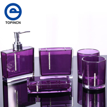 (Ship From US) Bathroom Set Five Pieces Set Of Bathroom Supplies Kits Bathroom  Accessories Acessorios Para Banheiro Red Purple White Black
