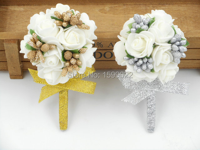 Handmade Foam Rose Flowers Mariage Best Man Wedding Prom