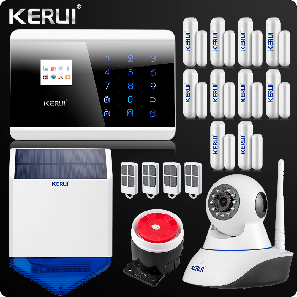KR-8218G GSM PSTN Dual Net Wireless Home Alarm System Security Android IOS APP Touch keypad English/Russian/French/Spanish Voice dual network russian spanish french wireless gsm pstn alarm system home security alarm systems with lcd keyboard without battery