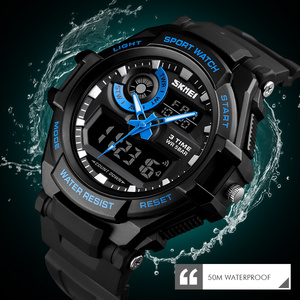 Image 3 - SKMEI Digital Watch Men S Shock Sports Watches Military Waterproof Big Dial Dual Display Quartz Clock Men Relogio Masculino 1357