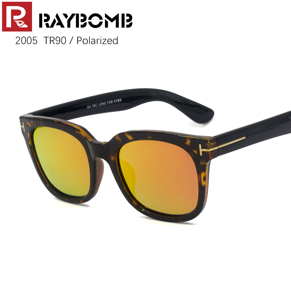 c9014108b662 Fashion Polarized Sunglasses Men Women Reflected Coating Sun glasses TR90  frame Trendy Eyewear with box