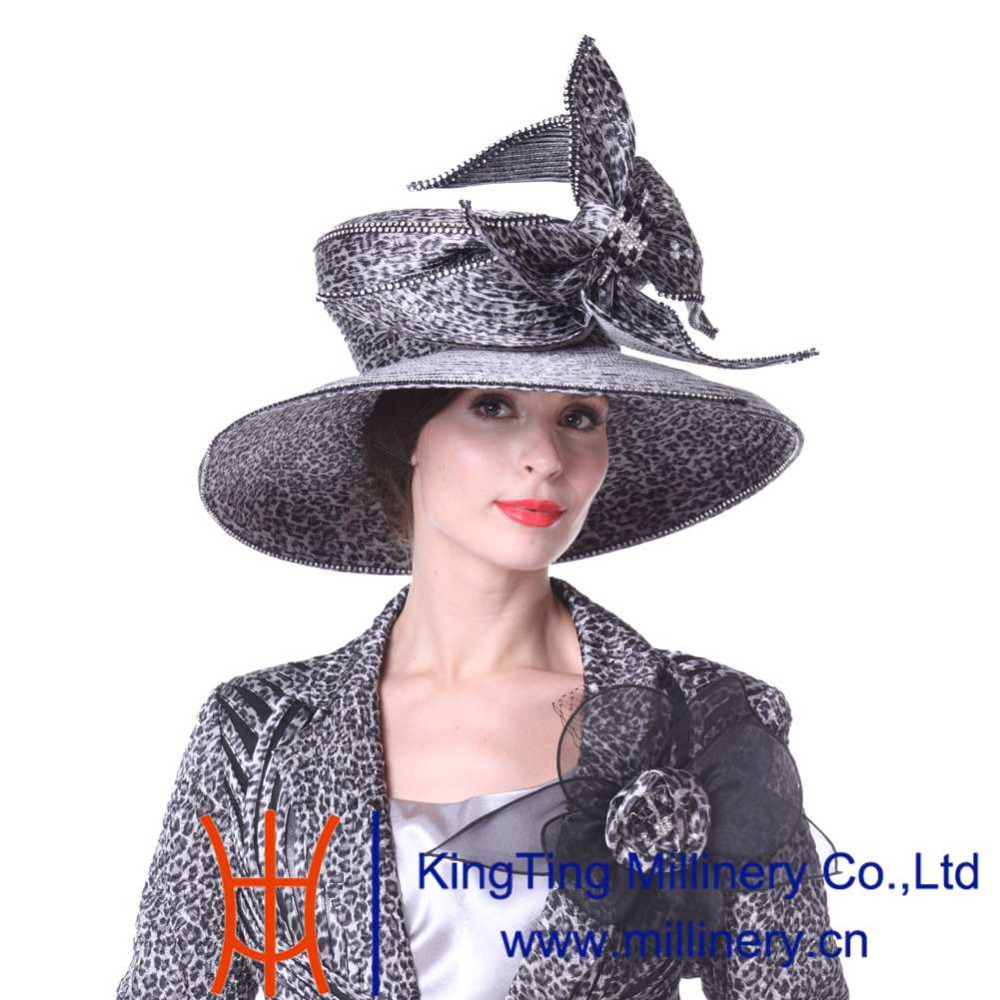 72f50ef83cdc0 Kueeni Women Hats Special Designer Diamond Casing Wedding Party Church Hats  Summer Fashion Large Exaggerate Evening Dress Hats-in Fedoras from Women s  ...
