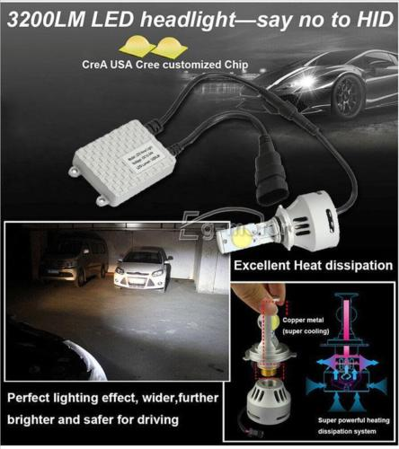 Envío gratis 2x9006 3200lm 32 W MTG2 Led faro cabeza blanca luz antiniebla Kit de bombillas - 5