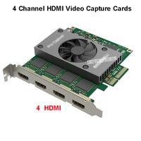4 Channel HDMI Video Capture Card PCI e 2.0 Pro Capture Quad 4 HDMI Input Live Stream Broadcast HD400pro