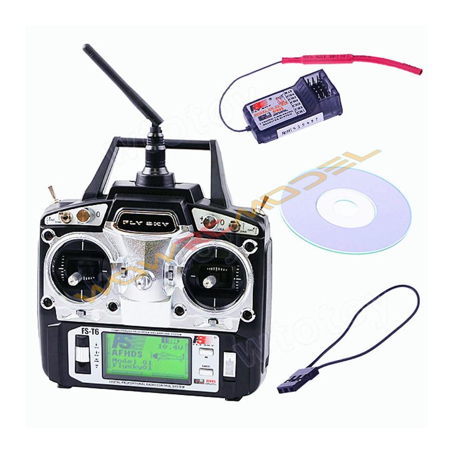 Flysky FS T6 FS T6 6ch 2.4g w/ekran LCD nadajnik + FS R6B odbiornik do Heli samolot  wysłać z pola koloru w Części i akcesoria od Zabawki i hobby na  Grupa 1