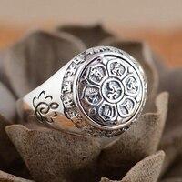 925 Sterling Silver Buddha Ring 5