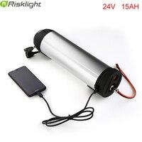 24V 15Ah Water Bottle Battery Pack 24 Volt Li ion Electric Bike Battery for 24V 250W Motor