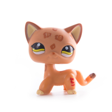 Lps old collection cat Toys lps free shipping Pet Shop Short Hair Cat Action Standing Figure Cosplay Toys Children Best Gift цена 2017