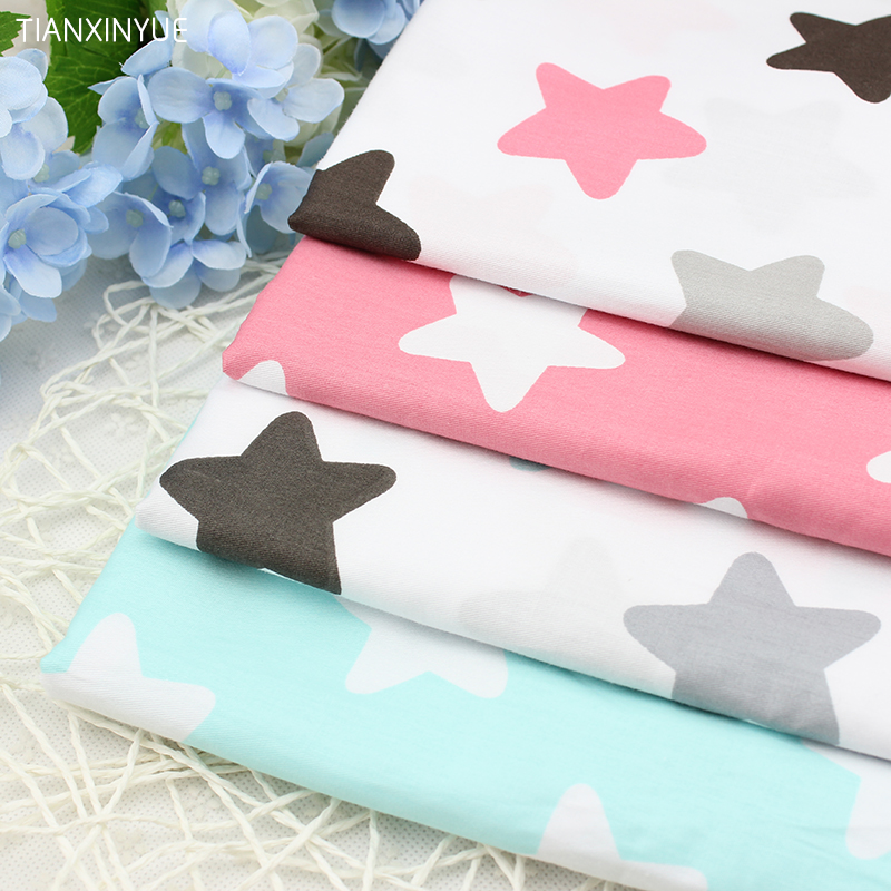 Four color Star series baby Cloth fabric 4 pcs Pillow Cotton Fabric For Sewing patchwork Textile Doll Body Cloth 40 *50 cm