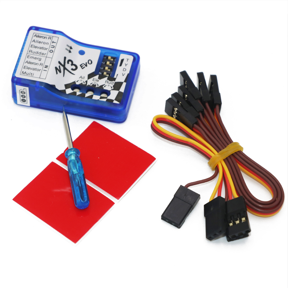 1pcs Fixed-wing flight gyro balancer NX3 EVO Flight Controller Board Stabilization Controller For 3D 2D flight
