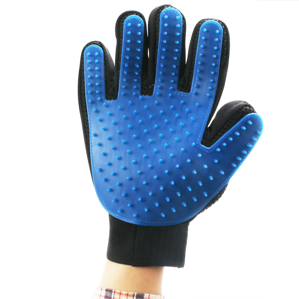 New Style Silicone Pet Grooming Cleaning Glove Deshedding left/Right Handed Dog Cat Hair Removal Brush Humanized Palm Design 12