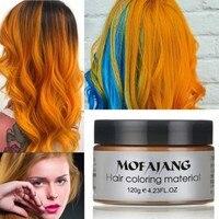 Мода окрашивания волос Материал укладки одноразовый воск для волос одноразовые волосы краситель крем легко мыть растения компонент