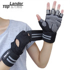 Weight Lifting Gloves with Wrist Support Wraps for Men & Women Gym Crossfit Workout Training Half Finger Gloves