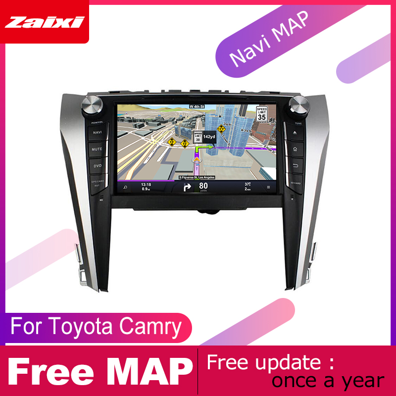 ZaiXi 2 DIN Auto DVD Player GPS Navi Navigation For Toyota Camry Aurion 2011 2017 Car Android Multimedia System Screen Radio in Car Multimedia Player from Automobiles Motorcycles