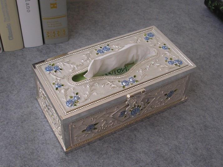 Средний размер художественный металлический стол прямоугольная коробка с одноразовыми салфетками экстракт коробка для салфеток Чехол Держатель рисунок «hello kitty» салфетница bronze1009