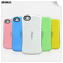 купить Sinbeda iFace Mall Heavy Duty Shock-Absorbing Soft TPU Silicone Back Cover Hybrid TPU PC For iphone 4 4S 5G 5S 5C Phone Bag Case по цене 172.6 рублей