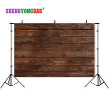 Vinyl Custom Photography Backdrops Prop wood vinyl backdrops for photography 210cm*150cm  JTW-98