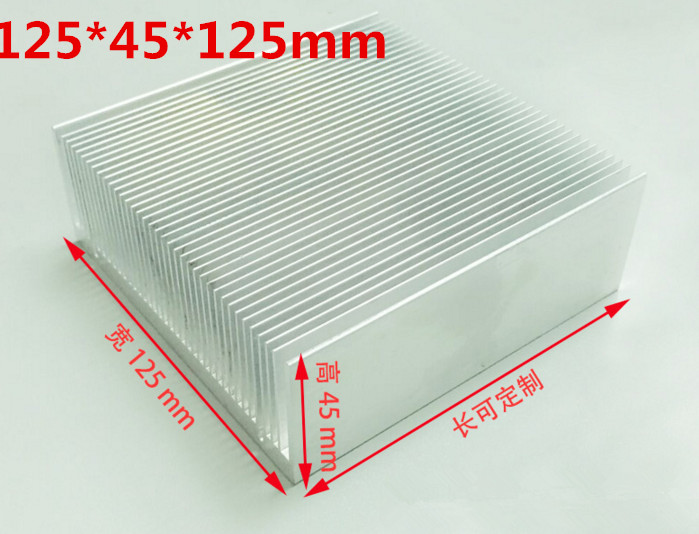 Free Ship High quality high power radiator/Dense tooth aluminous profile 125*45*125mm power supply/power amplifier heat sink sitemap 251 xml