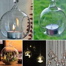 Модный хрустальный стеклянный подсвечник, настенный подсвечник, украшение, бра, подходящая сталь, минималистичный свадебный ужин, домашний декор, подарок 78
