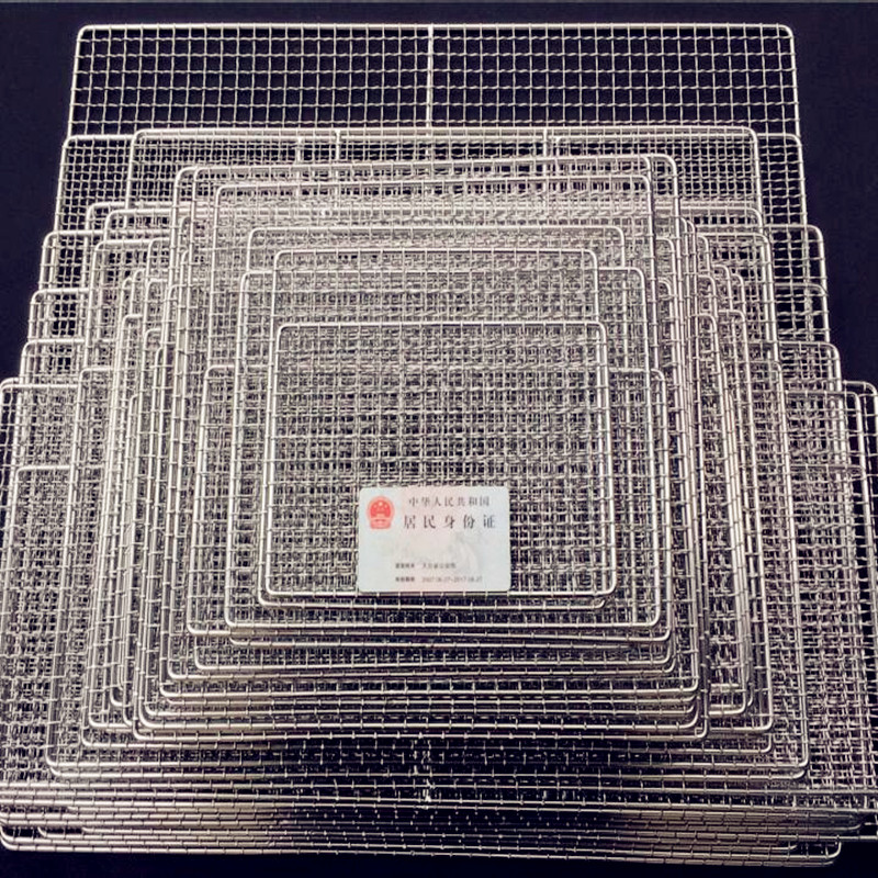 2017 Korean style thicken 304 stainless steel BBQ grilling square barbecue wire mesh cooking tool