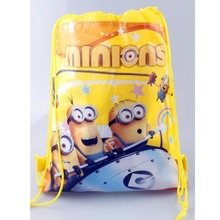 New Style Despicable Me Minions Kids Cartoon Drawstring Bag Children Backpacks Cute School Bags Mochila Infantil