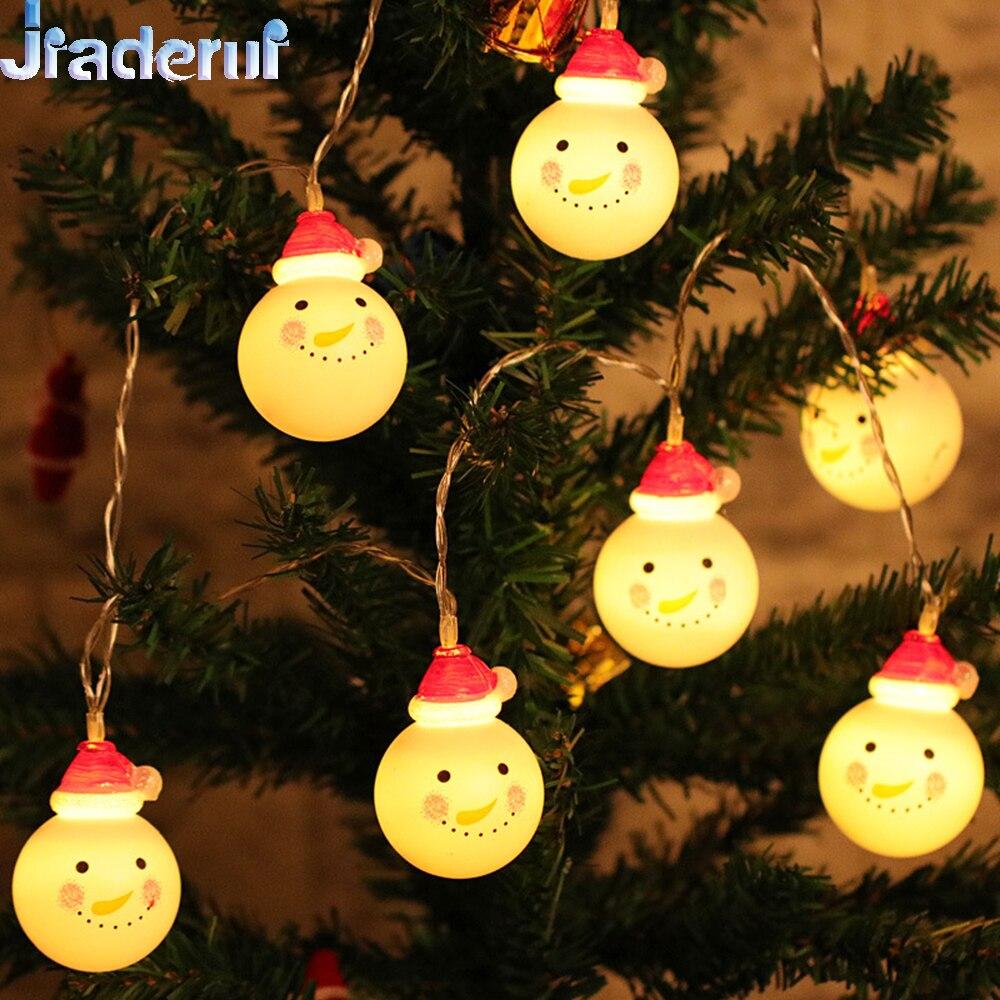 Jiaderui LED Christmas Tree String Light 5M 30LED Snowman Holiday Lamp Outdoor Waterproof New Year Party Xmas Decor Garland Lamp xmas tree party decor christmas snowman hanging gift sock
