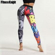 цены на Leggings For Fitness Women Print Yoga Pants High Waist Yoga Leggings Letter Running Sport Pants Female Sport Leggings Sportswear  в интернет-магазинах